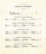 Table of Contents, Jackson County 1875